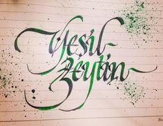 #yeşil #zeytin #yeşilzeytin #greenolive #calligraphy #huseyinusodinler