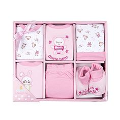 Big Oshi 6 Piece Layette Gift Set Pink ** You can find out more details at the link of the image.-It is an affiliate link to Amazon.