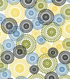 Fabric choice for laundry room curtains: Keepsake Calico Fabric -  Mod Floral. Reg. price $9.99/yd.