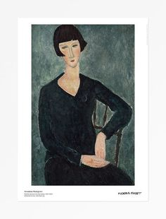 Amedeo Modigliani - Sittande kvinna i blå klänning, 1917-19
