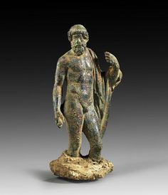 Roman bronze figure of Zeus, probably after a prototype of the Greek sculptor Myron. 1st - 2nd century A.D
