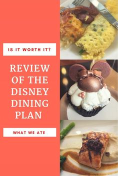 Is the Disney Dining Plan worth it? Everything you need to know based on our experience with the 2018 Disney Dining Plan includes tips, tricks and where/what we ate (example meals - Disney Dining Plan Restaurants).  #disney #disneydiningplan #disneyworld #eatingatdisney