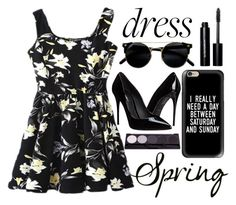 """spring dress"" by j-n-a ❤ liked on Polyvore featuring Bobbi Brown Cosmetics, Casetify, Dolce&Gabbana, Spring, springfashion and springtrend"
