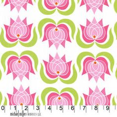 Modern Lotus in Pink Lush by Patty Young for Michael Miller Fabrics 1 Yard. $8.75, via Etsy.
