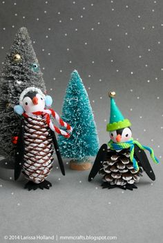 mmmcrafts: handmade gifts 2014: penguin ornaments for asher and gage