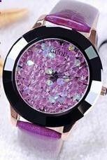Hongkong Brand Women Rhinestone Watches Austrian Crystal Ceramic Leather Brand Watches