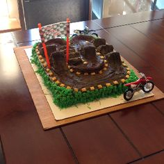 Dirt bike cake