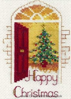 Warm Welcome Christmas Greetings Card Cross Stitch Kit from Derwentwater Designs