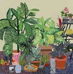 Janas Wood - Blue Rug Still Life -David Kordansky Gallery