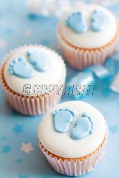 cupcakes baby shower | cupcakes baby shower stock image