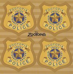 Wilde and Hopps — skunkandburningtires: Zootopia Police badges and...