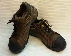 46.74$  Watch now - http://vivvs.justgood.pw/vig/item.php?t=qq88vg22599 - NWOT Caterpillar Women's Work Safety Boots Argon Dark Brown 6.5 Wide Comp Toe