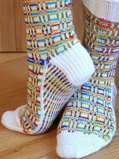 Ravelry: Sox Squared pattern by Camille Chang (Awesome Socks! Crochet Socks, Knit Or Crochet, Knitting Socks, Hand Knitting, Knit Socks, Knitting Patterns, Crochet Patterns, Patterned Socks, How To Purl Knit