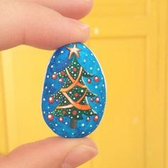 Finished up this one yesterday. It's painted on a stone that has a nice rounded…