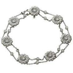 TIFFANY & CO. Rose Collection Diamond Platinum Bracelet