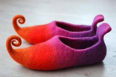 CUSTOM MADE Fairy shoes/ felted home slippers felted by zavesfelt, $71.00