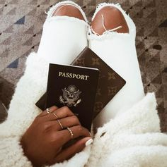 A chic passport holder for your travels.