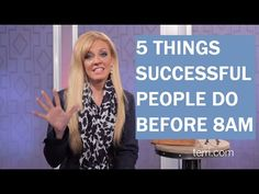 5 Things Successful People Do Before 8 a.m.   Terri Savelle Foy Ministries   www.terri.com