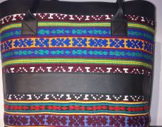 Geanta handmade din piele naturala si material traditional Handmade, Hand Made, Arm Work