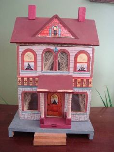 Antique 1901 Bliss Dollhouse Lithographed ......Rick Maccione-Dollhouse Builder www.dollhousemansions.com