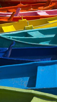 Colorful boats-Mexico.
