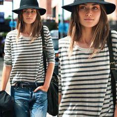How to Chic: STRIPED SHIRT - FEDORA HAT - BOYFRIEND JEANS
