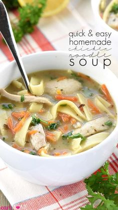 Easy Chicken Recipes, Crockpot Recipes, Soup Recipes, Cooking Recipes, Healthy Recipes, Healthy Food, Yummy Food, Lasagna Soup, Recipes