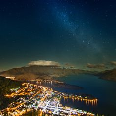 The milky way over queenstown #iPad #Air #Wallpaper