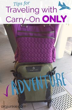 I Finally Did It! Tips for Traveling with a Carry-On Bag Only - I Finally Did It! Tips for Traveling with Carry-On Only - Carry On Bag Essentials, Carry On Packing, Packing Tips For Vacation, Travel Packing, Travel Essentials, Travel Bags, Packing Ideas, Packing Hacks, Traveling Tips