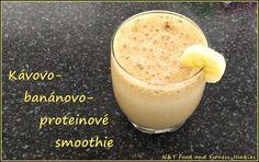 Kávovo-banánovo-proteinové smoothie   Články – EProtein.cz   Feel the benefits Smoothies, Glass Of Milk, Detox, Pudding, Fresh, Drinks, Desserts, Limo, Smoothie