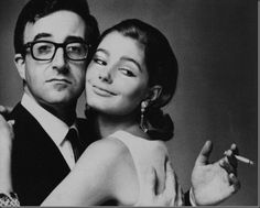 Peter Sellers and friend in fashion ad, 1963.