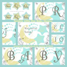 Twinkle Little Star Baby Shower Printable  Mommy's Idea Notebook