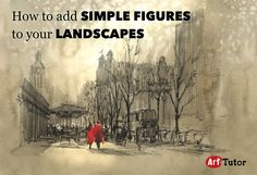 We've just added a new blog post... Tips for drawing and placing believable figure impressions in your landscape paintings.