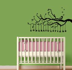 Wall Vinyl Decal Sticker Art Design Congratulations Card Bird on Tree Branch Baby Room Nursery Room Nice Picture Decor Hall Wall Chu1028 Thumbs up decals http://www.amazon.com/dp/B00K1CXVJ4/ref=cm_sw_r_pi_dp_5op1tb119T86GHGR