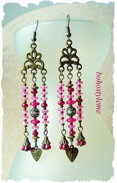 Bohemian Earrings Vintage Style Dangle Earrings Boho Chic