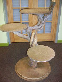 """40"""" 3-shelf Juniper cat tree. $350.00, via Etsy."""