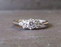 Skinny Thin Trilogy Diamond Engagement Ring Knife by ArahJames