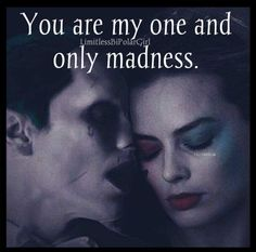 Imagini pentru the joker and harley quinn love quotes Der Joker, Joker Und Harley Quinn, Madly In Love, My Love, Style Afro, Enjoy The Ride, Harely Quinn, Daddys Lil Monster, Les Sentiments
