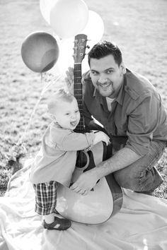 Daddy and Baby Guitar - Photo by Mustard Seed Photography