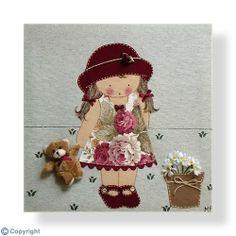 Cuadro infantil personalizado: Niña con sombrero (ref. 12009-08)
