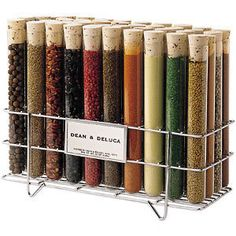 Test tube spice rack and spices - I love my set! Bead Storage, Craft Storage, Storage Ideas, Spice Storage, Storage Solutions, Test Tube Spice Rack, Spices Packaging, Organic Packaging, Fruit Packaging