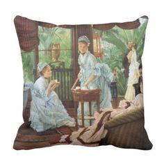 #party - #James Tissot Victorian Tea Party Throw Pillow
