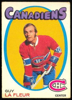 Guy LaFleur rookie card Canadiens de Montreal Go Habs Go ! Montreal Canadiens, Hockey Cards, Football Cards, Baseball Cards, Hockey Teams, Ice Hockey, Bruins Hockey, Hockey Stuff, Hockey Mom