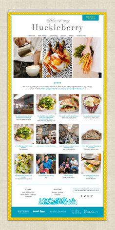 Project Launch: Huckleberry Café & Catering — sheila buchanan designs Menu Design, Label Design, Packaging Design, Logo Design, Email Campaign Templates, Rustic Canyon, City By The Sea, Restaurant Branding, Huckleberry