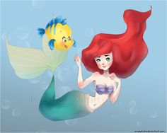 Melody the little mermaid deviantart | underwater by Arabellete