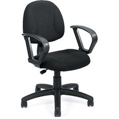 Boss Upholstered Task Chair with Loop Arms, Multiple Colors