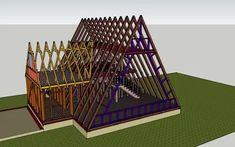 Pole Barn House Plans, Pole Barn Homes, Tiny House Plans, Tiny House Cabin, Cabin Homes, Log Homes, A Frame Cabin Plans, Triangle House, Dome House