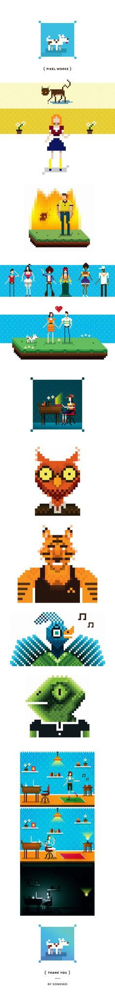 Pixel by Raphael Sonsino, via Behance