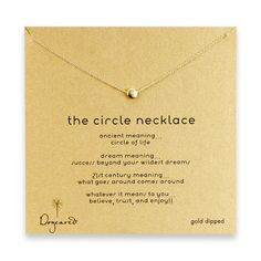 BEST SELLERS: dogeared circle necklace, gold dipped