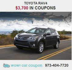 This high-performance #Toyota #Rav4 provides a memorable  experience each time you drive it. Also has some great #discount #coupons attached to it!!  Check it out on www.wowcarcoupon.com and save money!! #wowcarcoupon #couponbundles #njcars #couponforcars #free #coupons